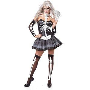 NEW California Costume Skeleton Masquerade Costume